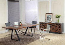 Modrest Spectra Contemporary Walnut & Grey Dining Table