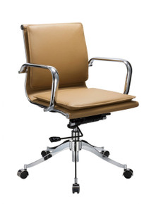 Modrest T-8218 Modern Camel Low-Back Office Chair