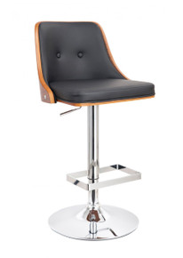 Modrest T-4039 Modern Black & Wood Bar Stool
