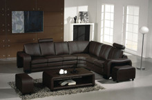 Divani Casa 3330 - Modern Brown Leather Sectional Sofa Set