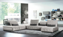 Daiquiri Italian Modern Light Grey Dark Grey Fabric Modular Sectional