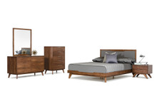 Nova Domus Soria Modern Grey & Walnut Bedroom Set