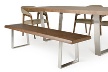 Modrest Byron Modern Walnut Dining Bench