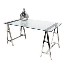Diamond Sofa Deko Stainless Steel Desk