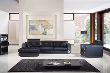 AE-L238R-B Contemporary 3 Pcs Black Sectional Sofa Set