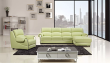 AE-L302L-GN-IV 3 Pcs Green Ivory Sectional Sofa Set