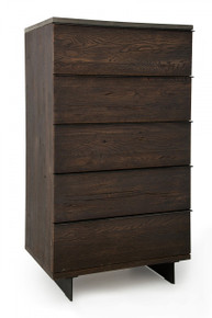 Modrest Selma Modern Dark Drift Oak Chest