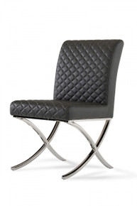 Modrest Adderley Modern Grey Dining Chair