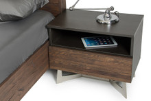 Modrest Wharton Modern Dark Drift Oak Nightstand