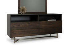 Modrest Wharton Modern Dark Drift Oak Dresser