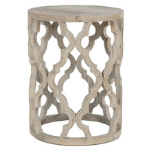 Bella Antique Clover End Table 8028