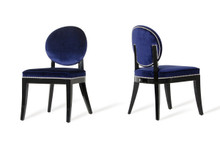 A&X Isabella Modern Blue Dining Chair