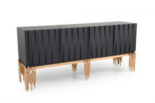 Modrest Token Modern Black & Rosegold Buffet
