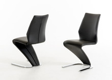 Modrest Penn Modern Black Leatherette Dining Chair