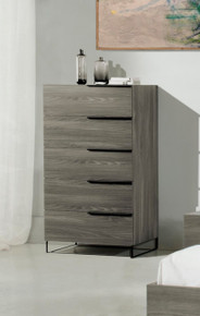 Modrest Enzo Italian Modern Grey Walnut Chest