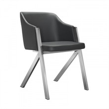 Modrest Darcy Modern Grey Leatherette Dining Chair