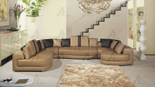 EK-L408 Camel Genuine Leather Sectional