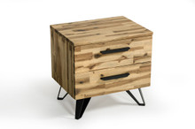 Modrest Sala Modern Light Wood Nightstand