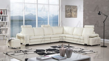 AE-L213 Ivory Bonded Leather Sectional