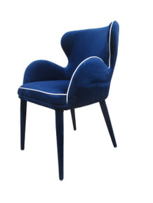 Modrest Tigard Modern Blue Fabric Dining Chair