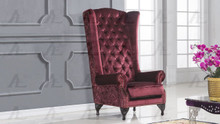 AE506 Red Fabric Accent Chair