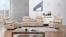 AE-D825 Tan Faux Leather Recliner Sofa Set