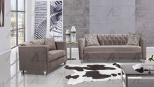 AE2602 Gray Fabric Sofa Set