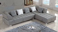 AE-L138 Gray Faux Leather Sectional
