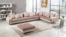 AE-L382 Brown Microfiber Sectional