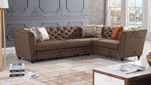 AE-L2219 Brown Fabric Sectional