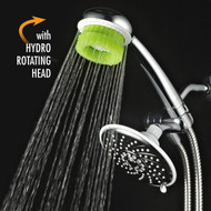 AquaCare by HotelSpa® Ultra-luxury Rainfall Combo with Rotary Hydrobrush Hand Shower