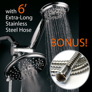 3 Way Dual Rainfall Shower Head Combo with Handheld Shower and Extra Long Shower Hose