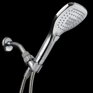 HotelSpa® New Ultra-Luxury Handheld Shower with Revolutionary Push-Control (Oval Square)