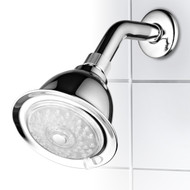 Luminex® 7-Color 4-Setting LED Shower Head with Air Turbo Pressure-Boost Nozzle Technology