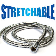 HotelSpa® 5 to 7 Foot Extra Long Stretchable Stainless Steel Shower Hose