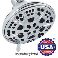 AquaDance® Premium High-Pressure 6-Setting 5-inch Shower Head