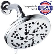 AquaDance® Premium High-Pressure 6-inch 6-Setting Rainfall Shower Head