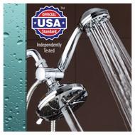 AquaDance® 6-inch Premium High-Pressure 30-Setting 3-Way Rainfall Shower Combo