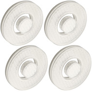 LaserJet 4-piece Disk Filter Cartridge Replacement Set - Use with Any LaserJet Shower Head, Hand Shower or Combo – America's Most Cost Efficient Shower Water Filtration System – Trusted US Brand