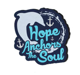Hope Anchors the Soul PVC Magnet