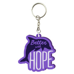 Better with Hope PVC Keychain