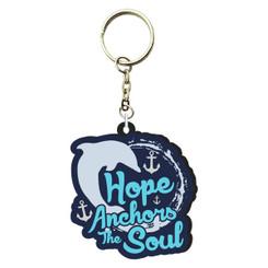 Hope Anchors PVC Keychain