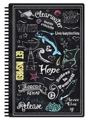 Chalk Print Notebook