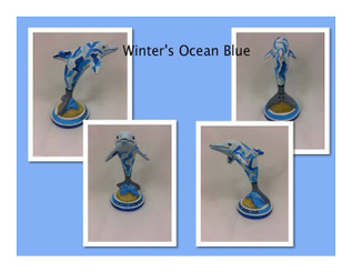Sample of painted Dolphin Statuette by Aidan Santiago