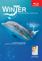 "December 10, 2005 – A baby dolphin caught in a crab trap rope is rescued, beginning a series of events that has become one of the most inspiring stories of our generation. Travel with us behind the scenes of Winter's amazing true story. See footage of the actual rescue, and follow her through the trials of losing her tail, learning to swim without a tail, and the miracle of swimming again with her new prosthetic tail. Learn how the tail research is now helping human amputees. Hear from the real-life Clearwater Marine Aquarium team, and experience the joy of children and wounded soldiers who have found her to be a life-changing role model. This real life story is hosted by Cozi Zuehlsdorff, ""Hazel"" in Dolphin Tale."