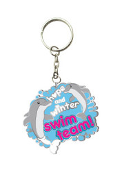 Swim Team Enamel Keychain