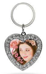 Cozi Rhinestone Heart Keychain