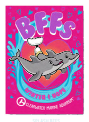 Splash BFFs Rectangle Magnet