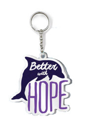 Better With Hope Enamel Keychain