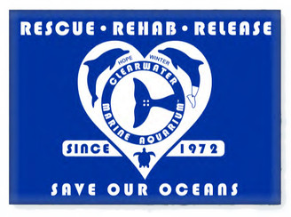 Retro Rescue Royal Blue Rectangle Magnet